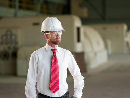 Businessman standing on site