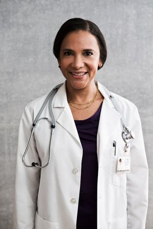 authoritative woman: Portrait of a female doctor