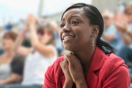 afro caribbean ethnicity: Adoring female fan