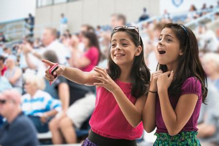 tweens: Adoring girls at pop concert LANG_EVOIMAGES