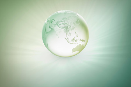 australasia: Illustration of glowing globe