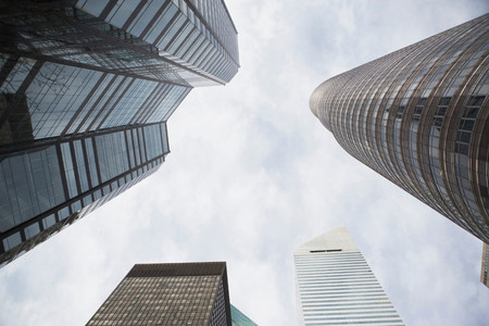 tallness: Low angle view of skyscrapers LANG_EVOIMAGES