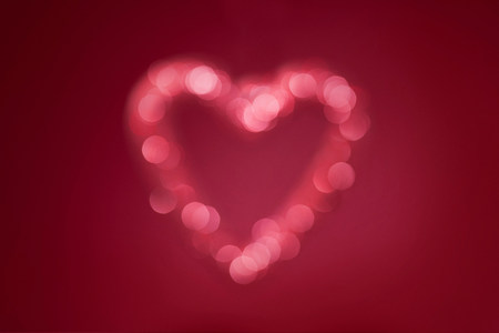 Blurred lights in heart shape