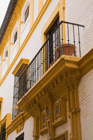 angle bar: Balcony,Seville,Spain LANG_EVOIMAGES