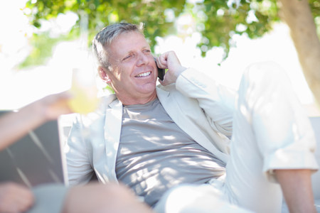 chillout: Mature man on cell phone