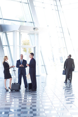 Businesspeople meeting in airport