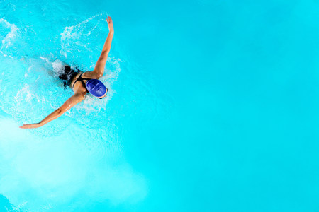 pubertad: Adolescente, niña, natación, natación, piscina