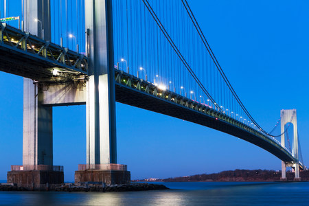 Verrazano-narrows bridge at sunset,New York City,USA
