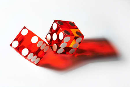 Two red dice LANG_EVOIMAGES