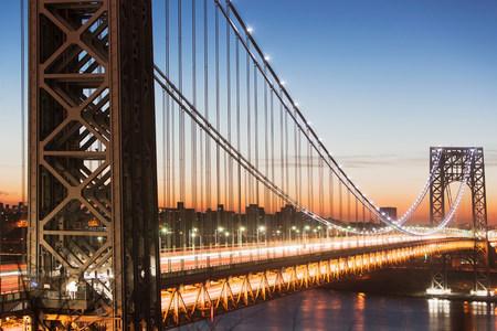 george washington: George Washington Bridge at sunset,New York City,USA LANG_EVOIMAGES