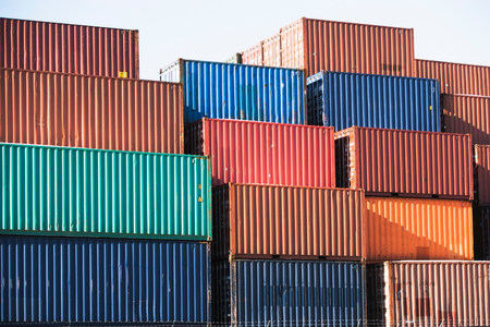 large group of business people: Cargo containers LANG_EVOIMAGES