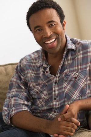 checker: Man wearing checked shirt,portrait