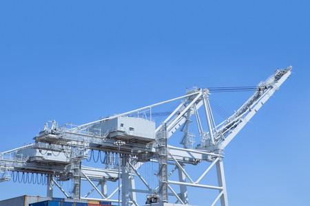Shipping cranes at the Port of Los Angeles,California,USA