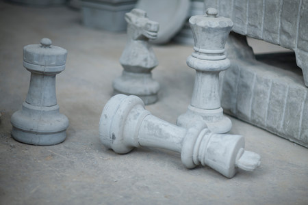 large group of business people: Products in pottery factory