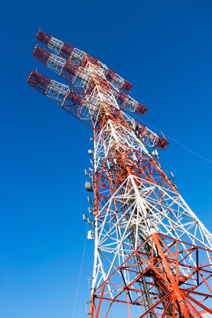 Communications tower,low angle view