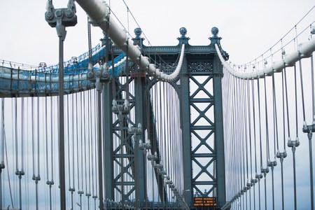 negative area: Architectural detail Manhattan Bridge,New York,USA LANG_EVOIMAGES