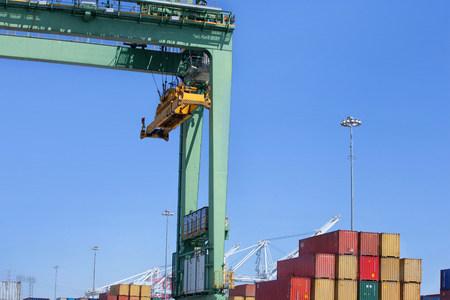 Overhead crane at the Port of Los Angeles,California,USA