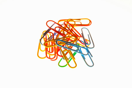 A pile of paperclips
