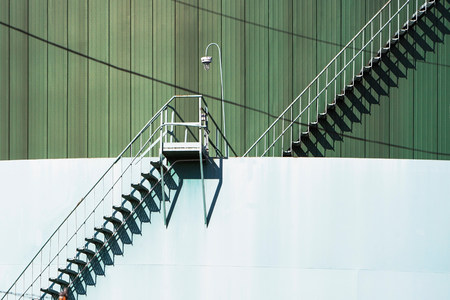 Metal Stairway And Industrial Structure