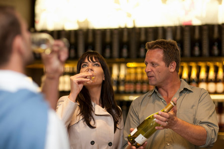 clothing store: Wine tasting at wine growers shop
