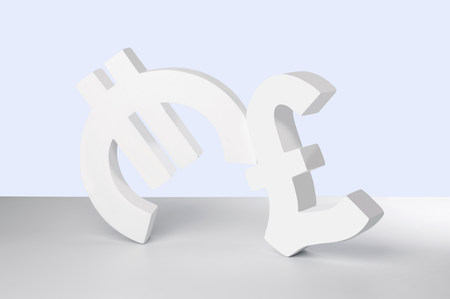 Euro and Pound signs on white background LANG_EVOIMAGES