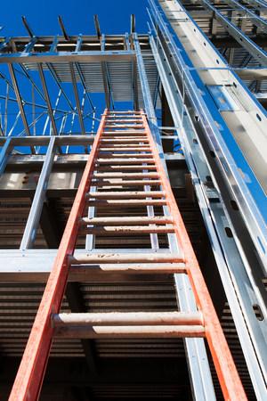 Ladder leading to construction frame LANG_EVOIMAGES