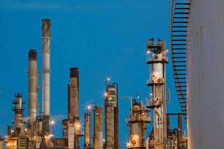 Refinery smokestacks,Montreal,Quebec,Canada
