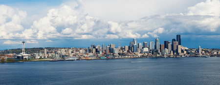 wa: Panoramic aerial view of Seattle,Washington State,USA LANG_EVOIMAGES
