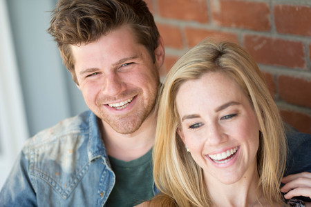 above 18: Portrait of young couple smiling