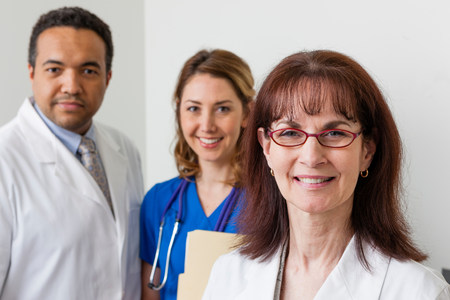 Medical professionals together in hospital,portrait