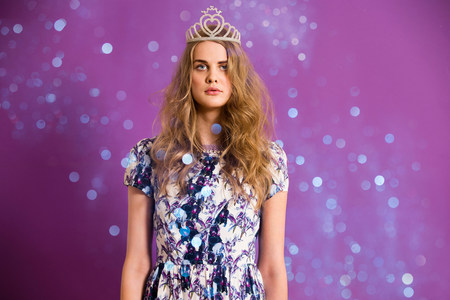 conjuring: Young woman wearing tiara with glitter