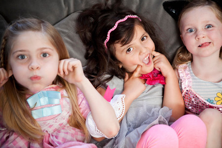 puckered lips: Children making faces