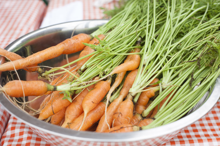 Bowl of fresh carrots