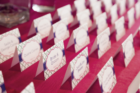 Place cards at wedding