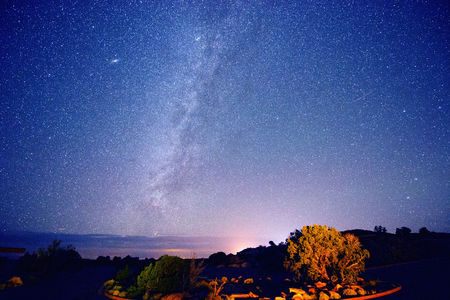 way out: Stars in night sky,Moab,Utah,USA