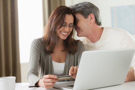 Mature couple home shopping