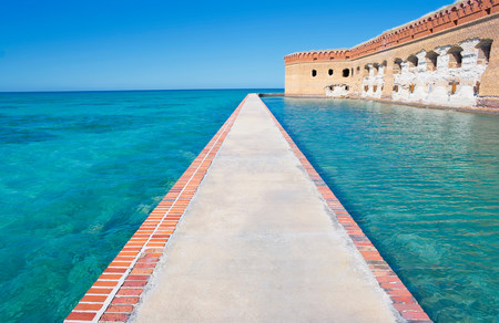 dry tortugas: Footpath,Fort Jefferson,Dry Tortugas National Park,Florida,USA