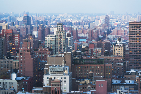 housing lot: Elevated view of east side Manhattan,New York City,USA
