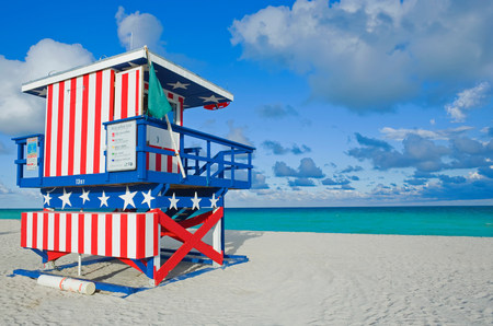 trashy: Lifeguard tower,South Beach,Miami,Florida,USA