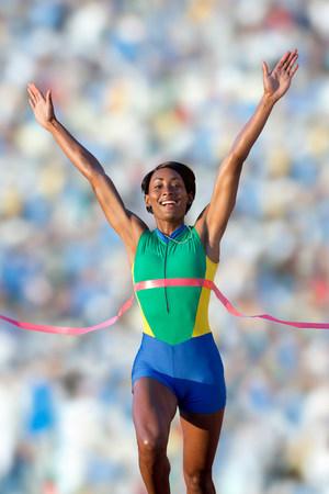 Runner at finish line LANG_EVOIMAGES