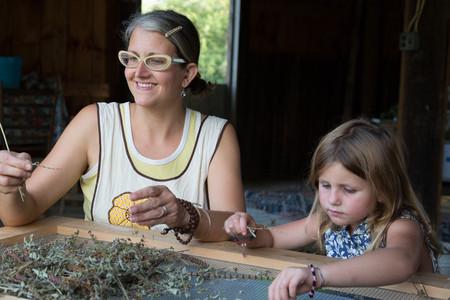relaciones laborales: Madre, hija, clasificación, seco, hierbas LANG_EVOIMAGES