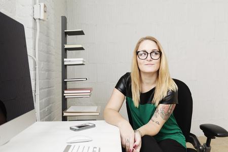 furniture design: Portrait of businesswoman in design office