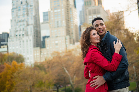 towerblock: Young tourist couple in Central Park, New York City, USA
