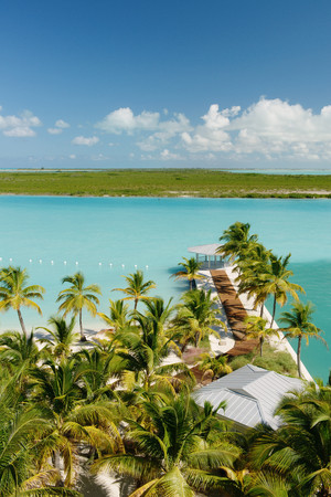 passageways: Jetty walkway at beach resort, Providenciales, Turks and Caicos Islands, Caribbean