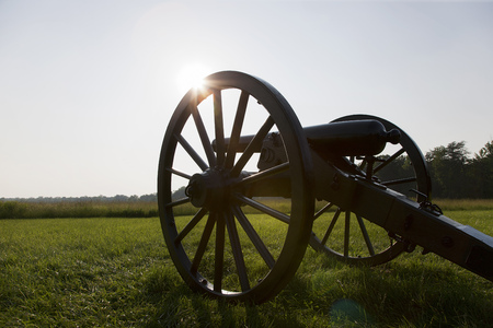 reminding: Cannon, Wilderness Battlefield, Fredericksburg and Spotsylvania National Military Park, Virginia, USA