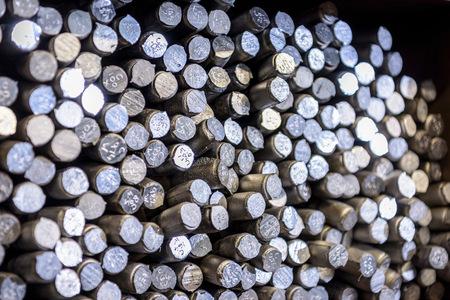alloy: Aluminium alloy samples in precision casting factory