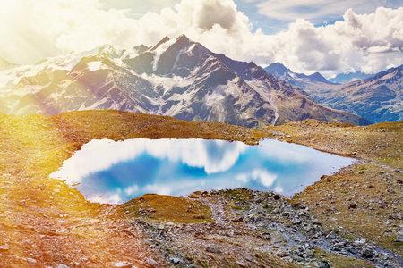 Lake in mountains, Santa Caterina Valfurva, Bormio, Italy