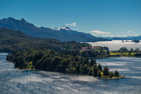 View of the Nahuel Huapi Lake and National Park, Bariloche, Rio Negro province, Patagonia, Argentina LANG_EVOIMAGES