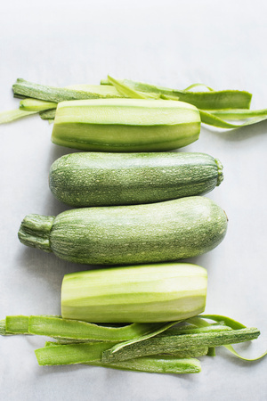 courgettes: Courgettes and spring onions LANG_EVOIMAGES