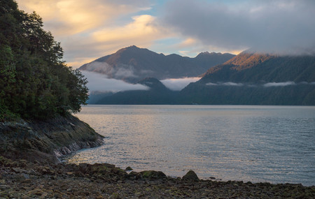 The bay at Caleta Gonzalo on the Carretera Austral,Chile